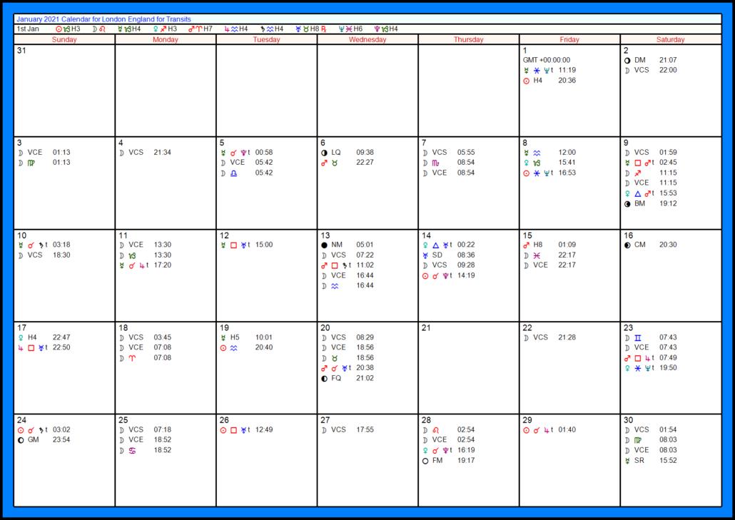 2101 transit calendar